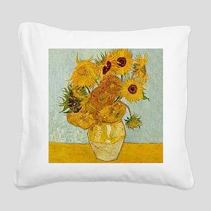 Vincent Van Gogh Sunflower Pa Square Canvas Pillow