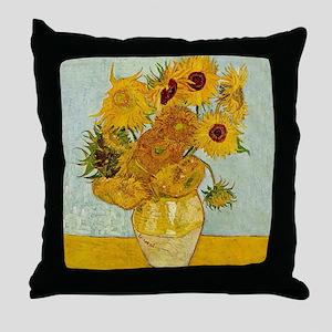 Vincent Van Gogh Sunflower Painting Throw Pillow