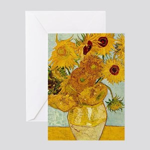 Vincent Van Gogh Sunflower Painting Greeting Cards
