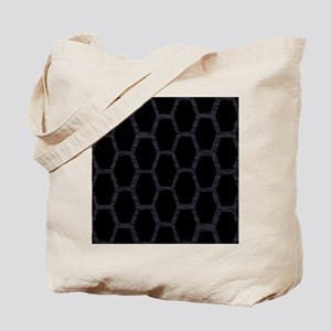 bucket A blk hexagons on blk feathers Tote Bag