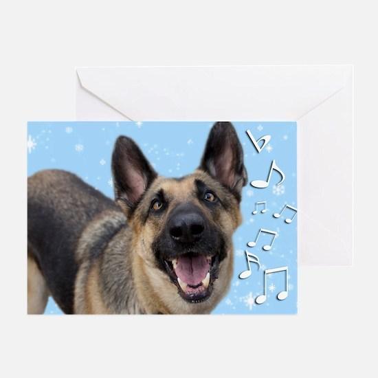 German Shepherd Chrismas Card Greeting Card