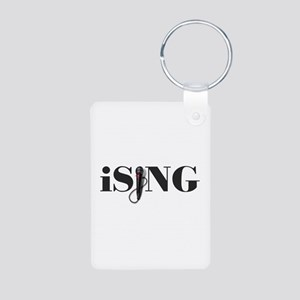 iSING Microphone Performer Aluminum Photo Keychain