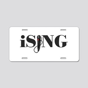 iSING Microphone Performer Aluminum License Plate