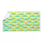 School of yellowtail Snapper ls fish 1 Beach Towel