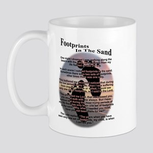 Foot Prints In The Sand Mug
