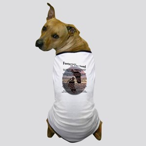 Foot Prints In The Sand Dog T-Shirt
