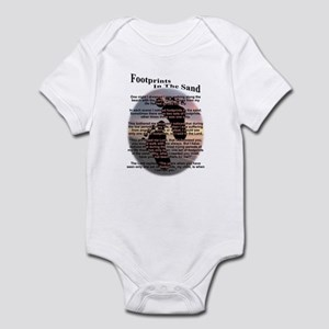 Foot Prints In The Sand Infant Bodysuit