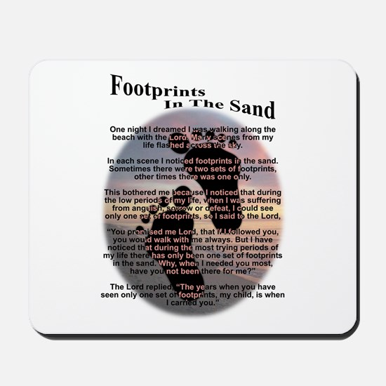 Foot Prints In The Sand Mousepad