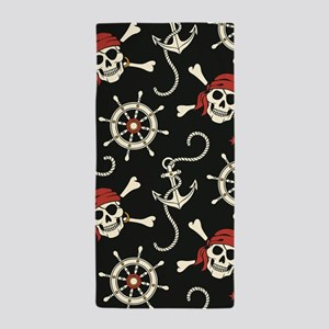 Pirate Skulls Beach Towel