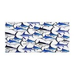 School of Marlin and Swordfish 1a Beach Towel