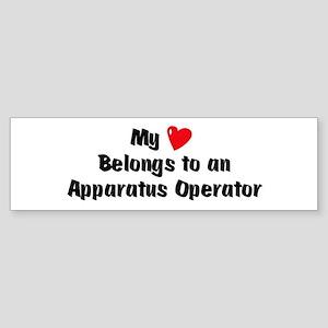 My Heart: Apparatus-Operator Bumper Sticker