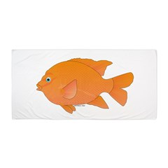 Garibaldi damselfish t Beach Towel