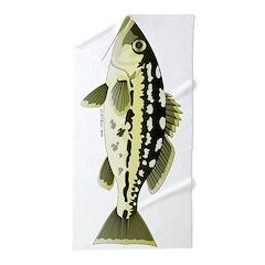 Calico Kelp bass Beach Towel