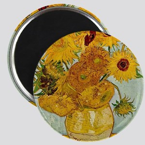 Vincent Van Gogh Sunflower Painting Magnets