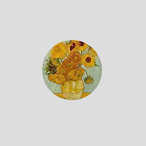 Vincent Van Gogh Sunflower Painting Mini Button