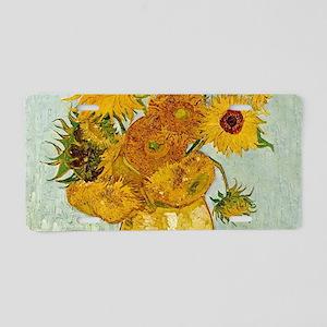Vincent Van Gogh Sunflower Aluminum License Plate