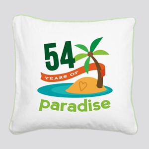 54th Anniversary Paradise Square Canvas Pillow
