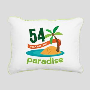54th Anniversary Paradise Rectangular Canvas Pillo