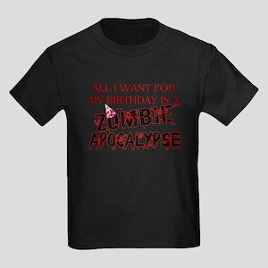 Birthday Zombie Apocalypse Kids Dark T-Shirt