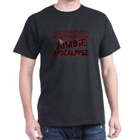 Uomini Piano Di Sopravvivenza Zombie Arredata T-shirt (scuro) FsIxH0i