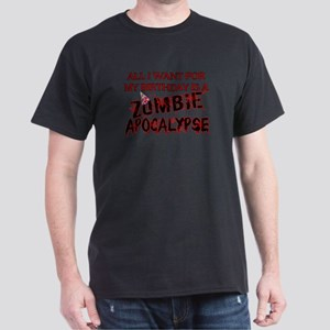 Birthday Zombie Apocalypse Dark T-Shirt