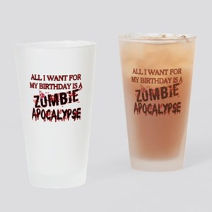 Birthday Zombie Apocalypse Drinking Glass