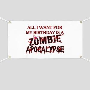 Birthday Zombie Apocalypse Banner