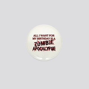 Birthday Zombie Apocalypse Mini Button