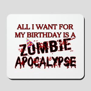 Birthday Zombie Apocalypse Mousepad