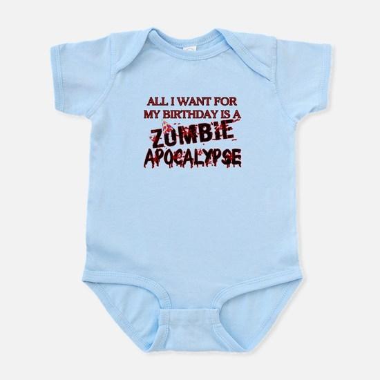 Birthday Zombie Apocalypse Infant Bodysuit