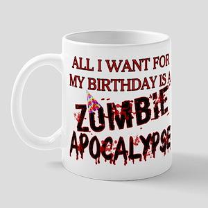 Birthday Zombie Apocalypse Mug