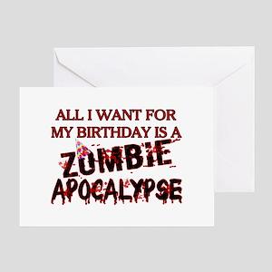 Mens zombie greeting cards cafepress birthday zombie apocalypse greeting card m4hsunfo