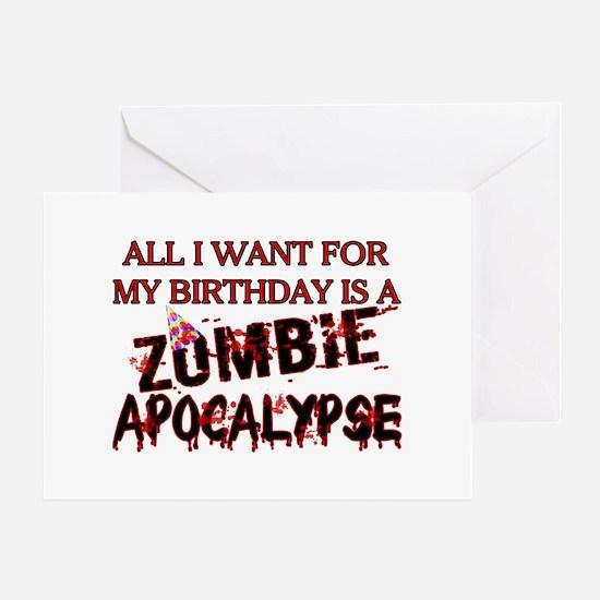 Birthday Zombie Apocalypse Greeting Card