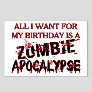 Birthday Zombie Apocalypse Postcards (Package of 8