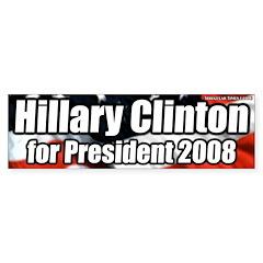 Hillary Clinton for President Bumper Bumper Sticker
