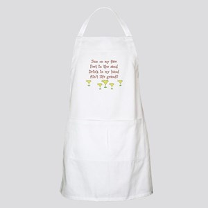 Sun on my face drink in my hand design Apron