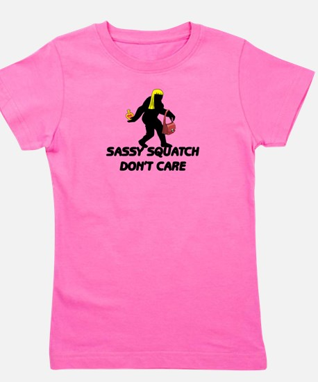 Sassy Squatch Don't Care Girl's Tee
