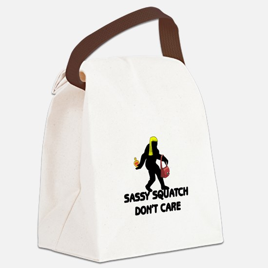 Sassy Squatch Don't Care Canvas Lunch Bag