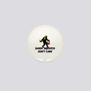 Sassy Squatch Don't Care Mini Button