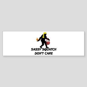 Sassy Squatch Don't Care Sticker (Bumper)