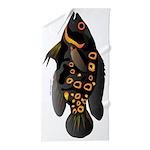 Oscar tropical fish v Beach Towel