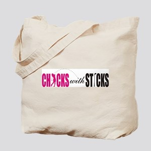 Chicks with Sticks Tote Bag