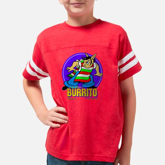burrito2_BLK_10x10 Youth Football Shirt