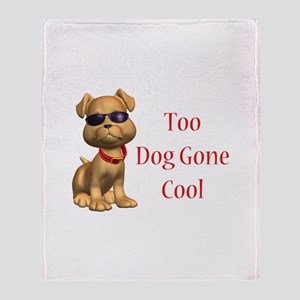 Dog Gone Cool Doggy Throw Blanket