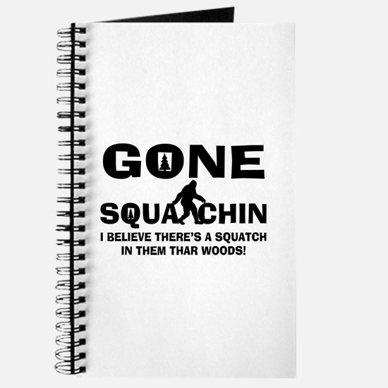 Gone Squatchin Bigfoot In Woods Journal
