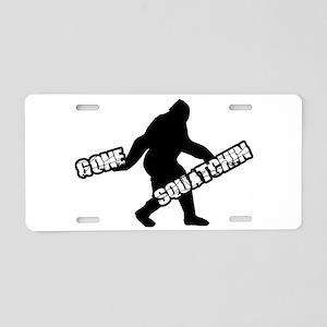 Gone Squatchin Aluminum License Plate