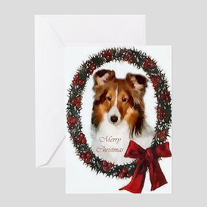 Shetland Sheepdog Christmas Greeting Card