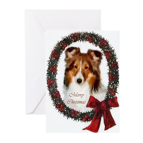 Shetland Sheepdog Christmas Cards (Pk Of 10)