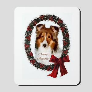 Shetland Sheepdog Christmas Mousepad