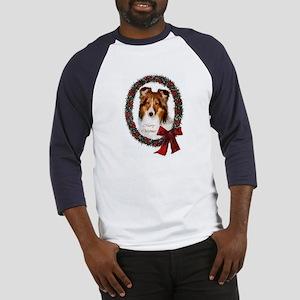 Shetland Sheepdog Christmas Baseball Jersey